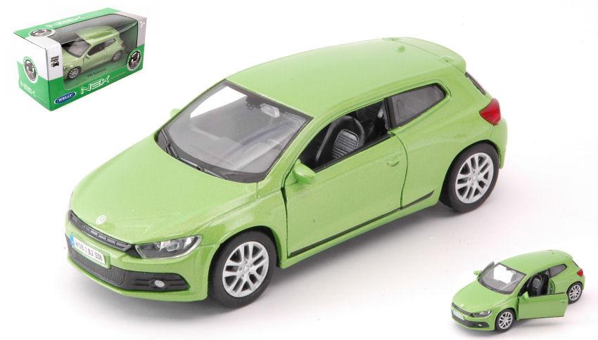 WELLY VW VOLKSWAGEN SCIROCCO GREEN 1:34 DIE CAST METAL MODEL NEW IN BOX