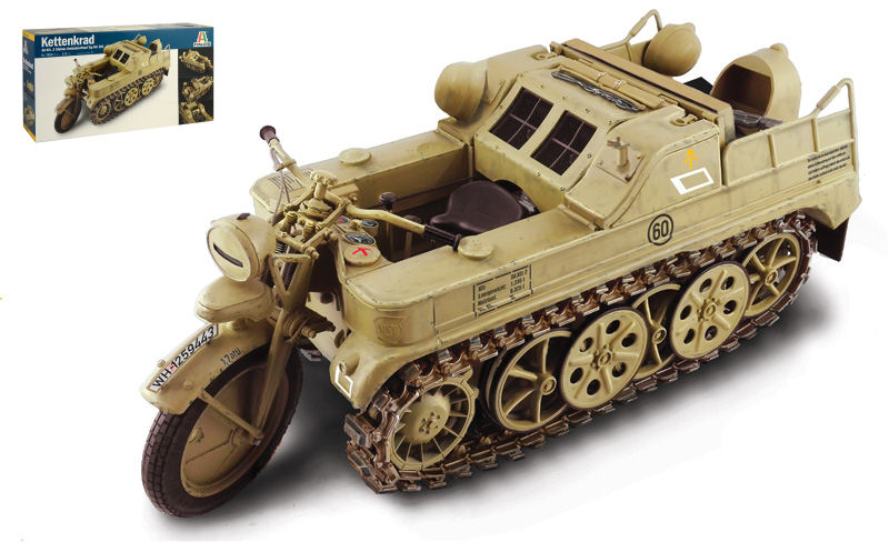 modellolino auto autori tank veicoli militari Italeri  NSU HK 101 KETTENKRAD KIT...