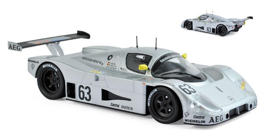 Sauber-mercedes C9 #63 Winner Lm 1989 Maas J Mass M Reuter Dickens 1:18 Model